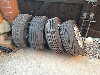 "VW Golf Mk3 15"" Alloy Wheels With Tyres"