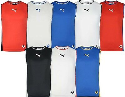 Men's New Puma Logo Vest Tank Top Sleeveless T-Shirt Singlet - Summer Holidays