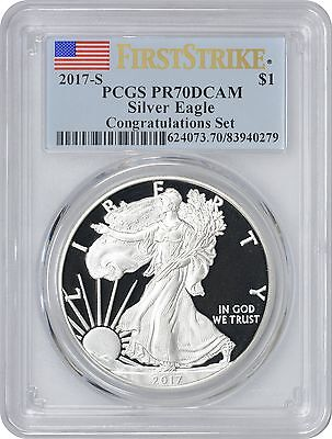 2017-S American Silver Eagle Congratulations Set PR70DCAM PCGS First Strike