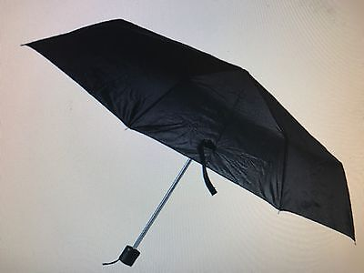 "A Folding Umbrella Mini Portable Compact Emergency Black 42""arc Mens/Ladies"