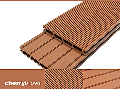 2.9m Cherry Brown Composite Decking Boards - Wood Plastic Composite Deck