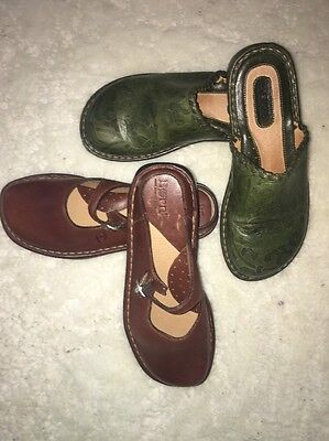 Lot Of 2 Pairs Of Born Leather Shoes Sz 6/6.5
