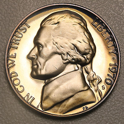 1970 S US Jefferson Nickel 5 Cents Proof FDC Ultra Cameo Coin