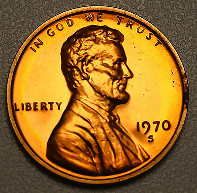 1970 S US Lincoln Memorial Cent  Proof FDC Ultra Cameo Coin