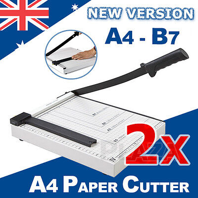 2X Portable A4 To B7 Paper Photo Cutter Guillotine Trimming Knife Metal Base