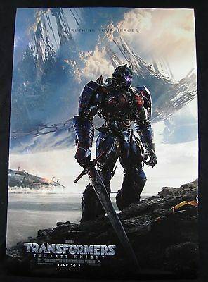 Transformers The Last Knight Original Theater Movie Poster One Sheet DS 27x40