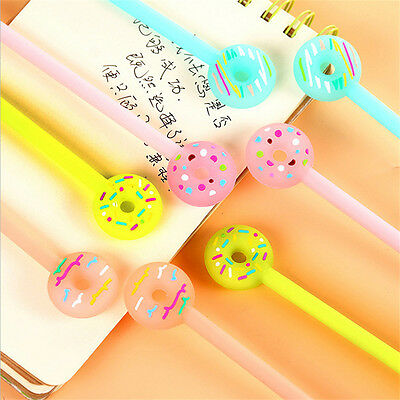 Cute Donuts Gel Pen 0.38mm Black Ink Pen Stationery For Students Office School