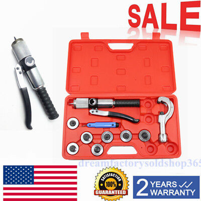 7 Lever Generic Hydraulic Tube Expander Tubing Expanding Tool Swaging Kit HVAC