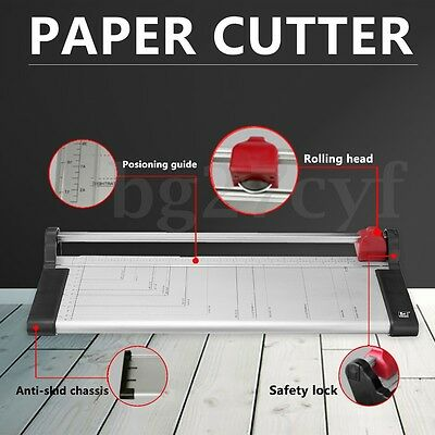 A3/A4 to B7 Rotary Paper Photo Trimmer Knife 7 Sheets Cutter Ruler Metal Base