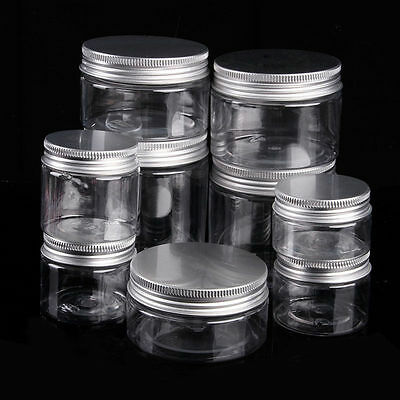 10PCS 50ml-250ml Aluminum Cap Cosmetic Tin Lip Balm Jar Containers Oil Wax Empty