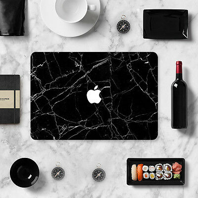 Laptop Black Marble Decal Sticker Full Skin Cover for Macbook Air Pro Retina New