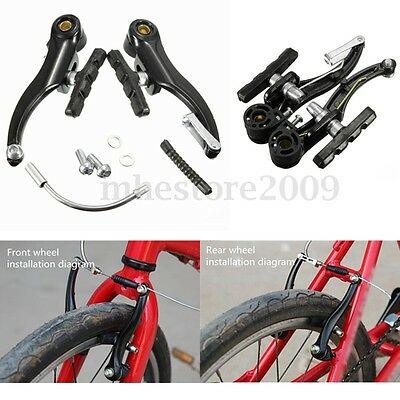 2Pair Black MTB V Brake Full Set Front/Rear Mountain Bicycle Cycling Alloy 110mm