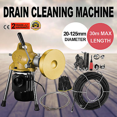 3/4''-5'' Dia Sectional Pipe Drian Cleaning Machine Snake Cleaner Flexible Tool
