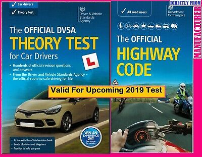 2018 DSA DVSA Driving Test Car Theory Book and Highway Code Book DVSA UK ThBk+Hw