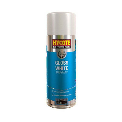 Hycote Gloss White Spray Can Paint 400ml
