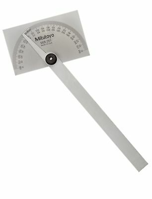 Mitutoyo 968-201 Protractor Stainless Steel Rectangular Head 1 Deg. Graduation