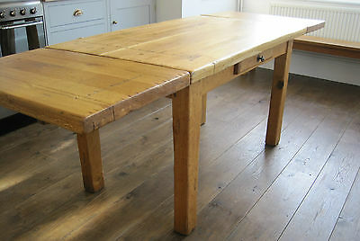 Solid Oak French Extending Farmhouse Refectory dining table see Devol kitchen