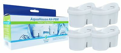 4 Water Filter Cartridges Compatible with Brita Maxtra Laica Bi-Flux Filter Jugs