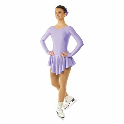 Girls  / Ladies Nylon Lycra Ice Skating Dress With Round Neck & Scoop Back