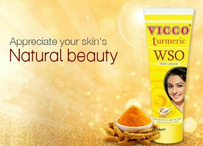 Vicco Turmeric WSO Skin Cream Ayurvedic Acne Pimples Boils Infection Wounds Cure
