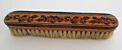 Lovely 7.5 Inch Antique Tunbridge Ware Clothes Brush