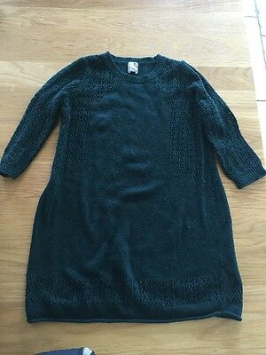 Gorgeous Green Top Shop Maternity Jumper Tunic Lace Detail UK 8