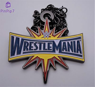 💥 Official Wwe Wrestlemania Metal Pendant / Necklace 💥 Brand New 💥