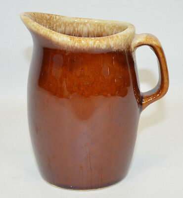 Hull Pottery Creamer Syrup Pitcher Brown Drip Oven Proof Made in USA