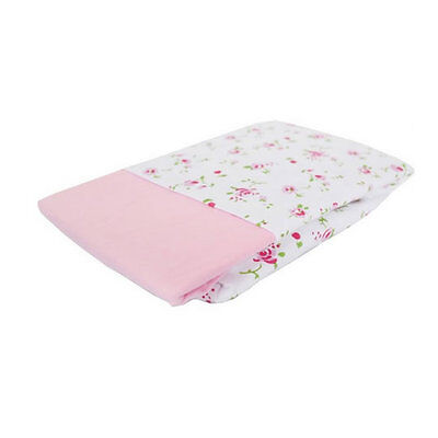 New Izziwotnot jersey cotton fitted moses basket sheets 2 pack in pink 30x74cm