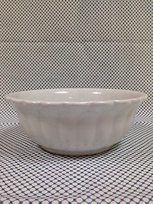 """Beautiful White Ironstone 9"""" Lady Finger Scalloped Footed Bowl 1870's-1880's"""