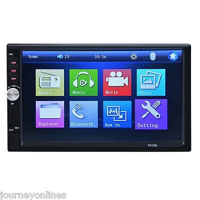 7012B 7 Inch Bluetooth V2.0 Car Audio Stereo Touch Screen MP5 Player