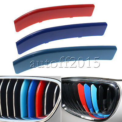 M-Sport 3-Color Grille Insert Trims For BMW 2012-2013 1-Series Center Kidney 3D