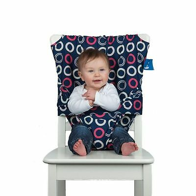Totseat Washable Portable Highchair Baby Toddler Seat With Harness