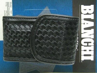 BIANCHI Black 7937 Basketweave ACCUMOLD ELITE Size 1 Smartphone Case! 25170