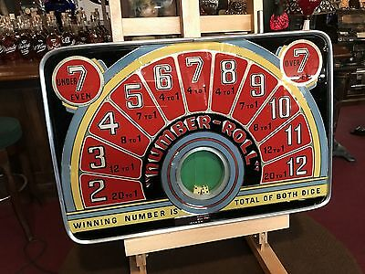 "1940's Bill Frey Countertop Dice Game with Reverse Glass ""Watch Video"""