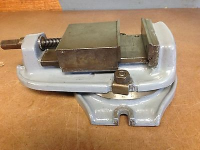 "Bridgeport Milling Machine Vise 5"" x 3.75"" opening with swivel mount base"