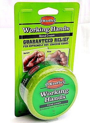 O'Keeffe's Working Hands Hand Cream Cracked Split Skin Non Greasy 96g Tub