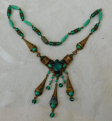 Lovely Unusual vintage Quality Egypt Egyptian Revival ? handmade Necklace