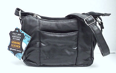 Embassy Solid Genuine Lambskin Leather Purse Lupurse100 Shoulder Bag/Cross-Body