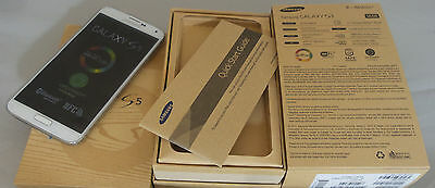 New- Samsung Galaxy S5 SM-G900T - 16GB - Black/White T-Mobile Unlock Smartphone