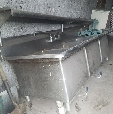 3 Compartment Stainless Steel Sink with legs and shelf!!