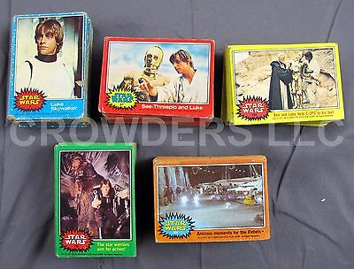 Vintage Star Wars 1977 Bubble Gum Trading Cards Complete Set + #207 C-3PO Error!