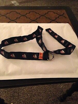 Kule Boys' Navy/Multi Sailboat Fabric Belt (SiZE 2-4 YR.) MSRP:  $20.00
