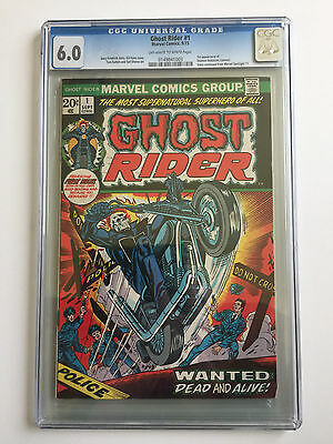 Ghost Rider 1 (Sep 1973 ) CGC 6.0 OW - W Pages 1st Daimon Hellstrom