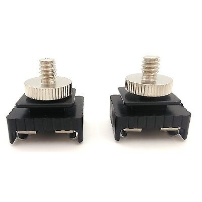 """LONKER Lonker Camera Cold Shoe Base with 1/4""""-1/4"""" Adapter screws ( Pack of 2)"""