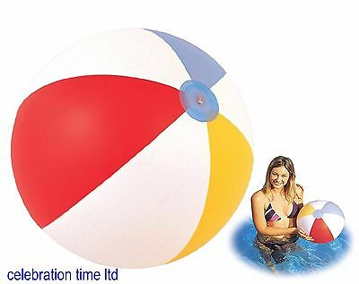 """Inflatable Blowup Panel Beach Ball 16"""" Holiday Party Swimming Garden Pool Toy"""