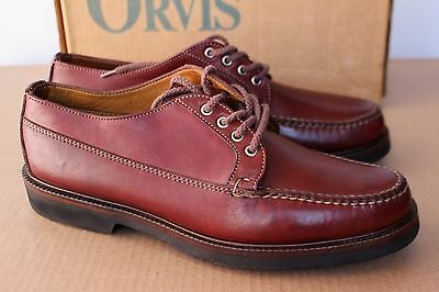 VTG Orvis Blucher Oxfords Moccasins Shoes Brown Leather 10.5 USA Vibram