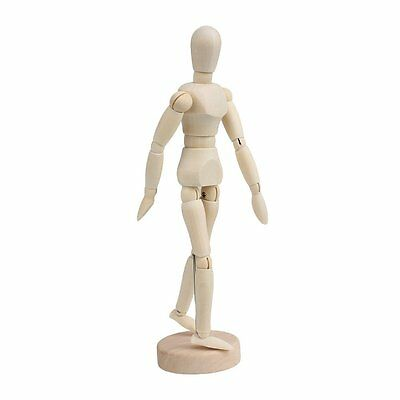 Wooden Human Mannequin 8 Inch Manikin Sketch Model Art/ARTIST Unisex Model J4N2