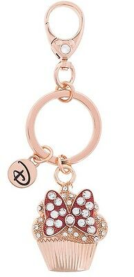 Disney Parks Boutique Minnie Bow Cupcake Keychain