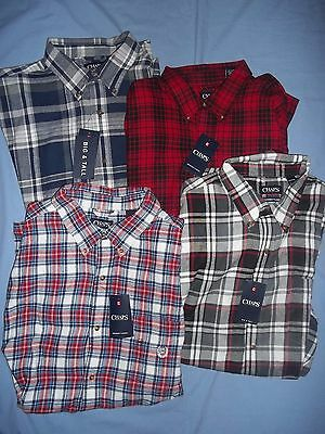 Chaps Men's Big & Tall Brushed Flannel Long Sleeve Casual Shirt Nwt - 3272